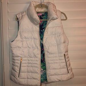 white lilly pulitzer vest